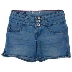 Vigoss Big Girls Stacked Waist Denim Shorts