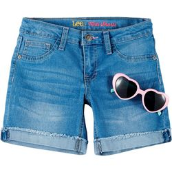 Lee Little Girls Denim Midi Shorts With Sunglasses