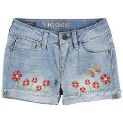 Vigoss Big Girls Garden Grows Denim Shorts