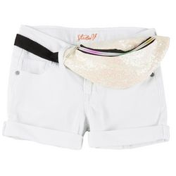 Vigoss Big Girls Sequin Fanny Pack Shorts