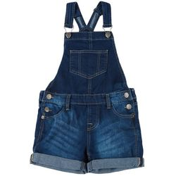 Big Girls Roll Cuff Denim Shortall