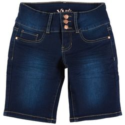 YMI Big Girls 3 Button Bermuda Denim Shorts