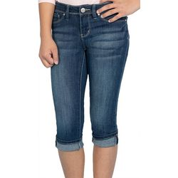 YMI Big Girls Cuffed Denim Capris