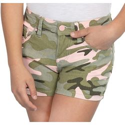 YMI Big Girls Camo Twill Shorts