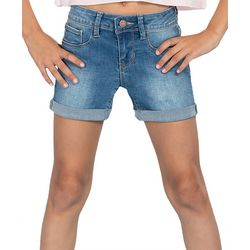 YMI Big Girls Cuffed Denim Shorts
