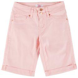 YMI Big Girls Dual Button Closure Cuffed Bermuda Shorts