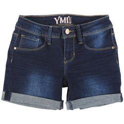 YMI Big Girls Cuffed Denim Shorts