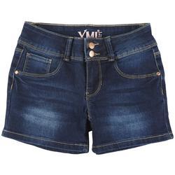 Big Girls 2 Button Denim Shorts