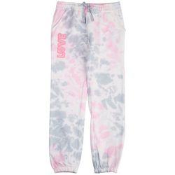 Hot Kiss Big Girls Tie Dye Love Jogger Pants