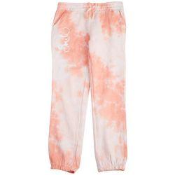 Hot Kiss Big Girls Tie Dye Smile Jogger Pants