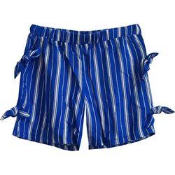 Big Girls Striped Bow Shorts