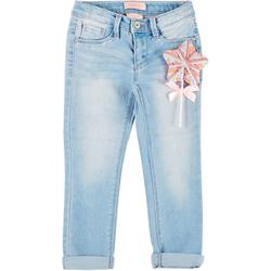 Little Girls Star Hair Ties Denim Pants