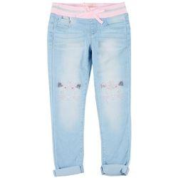 Little Girls Caticorn Denim Pants