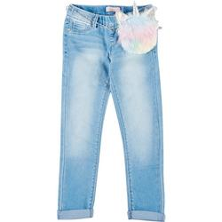 Big Girls Unicorn Denim Pull on Pants