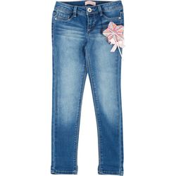 Big Girls Star Hair Ties Denim Pants
