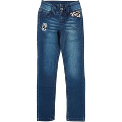 Squeeze Big Girls Flip Sequin Pocket Denim Pants