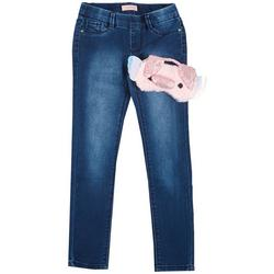 Big Girls Pig Sleep Mask & Denim Pants