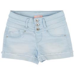 Big Girls Denim Three Button Denim Shorts