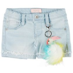 Squeeze Little Girls Roll Cuff Toucan Denim Shorts