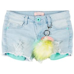 Big Girls Toucan Denim Shorts