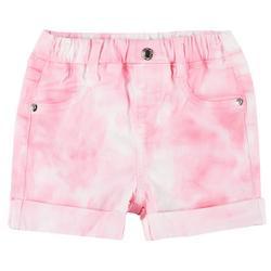 Little Girls Tie-Dye Roll Cuff Shorts