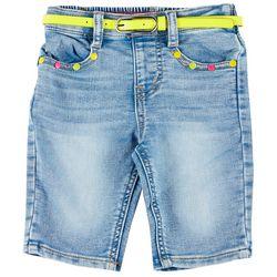 Flapdoodles Little Girls Belted Bermuda Shorts