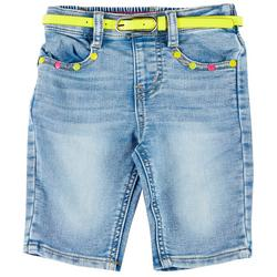 Little Girls Belted Bermuda Shorts