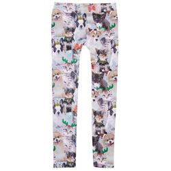 Big Girls Holiday Cat Leggings