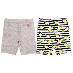 Betsey Johnson Little Girls 2-pk. Lemon Biker Shorts