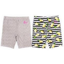 Little Girls 2-pk. Lemon Biker Shorts