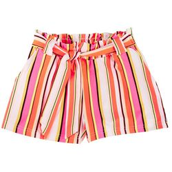 Big Girls Molly Stripe Paperbag Shorts