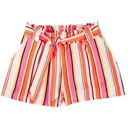 Big Girls Molly Stripe Paperbag Shorts