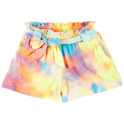 Big Girls Justine Tie-Dye Paperbag Shorts