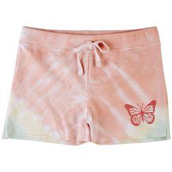 Full Circle Trends Big Girls Tie Dye Butterfly Shorts