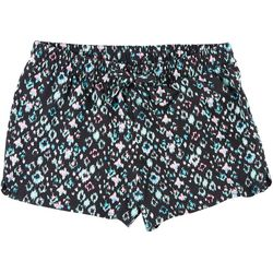 Green Soda Big Girls Mixed Geometric Print Shorts