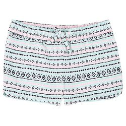Green Soda Big Girls Mixed Chevron Print Shorts