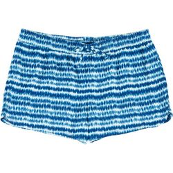 Big Girls Stripe Sueded Shorts