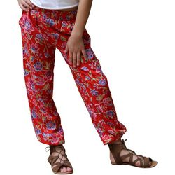 Angie Girl Big Girls Floral Print Jogger Pants
