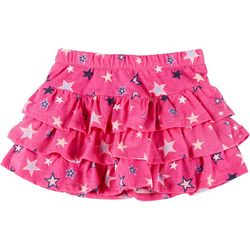 Kidtopia Little Girls Star Ruffle Skort
