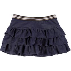Kidtopia Little Girls Solid Ruffle Skort