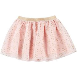 Little Girls Glittery Heart Tulle Skirt