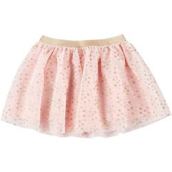 Little Girls Glittery Heart Tulle Skirt