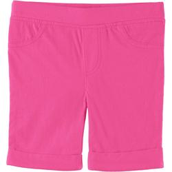 Little Girls Solid Bermuda Shorts