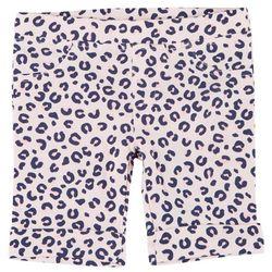 Little Girls Leopard Print Bermuda Shorts