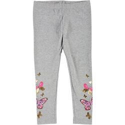Kidtopia Little Girls Butterfly Pull-On Leggings