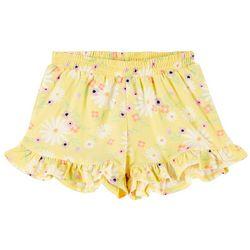 Little Girls Ruffle Floral Shorts