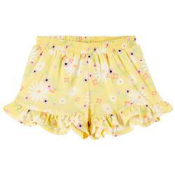 Toddler Girls Ruffle Floral Shorts