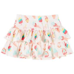Kidtopia Little Girls Ruffle Ice Cream Skort