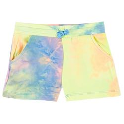 Little Girls Drawstring Tie Dye Shorts