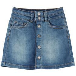 Big Girls Button Down Denim Skirt